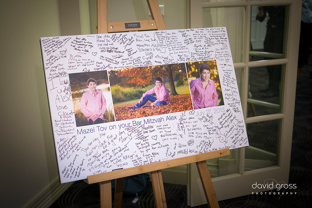 Bar Mitzvah Signing Canvas